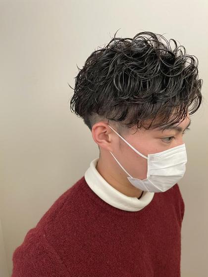 【メンズオススメメニュー🟤】カット+無造作パーマ ¥8000