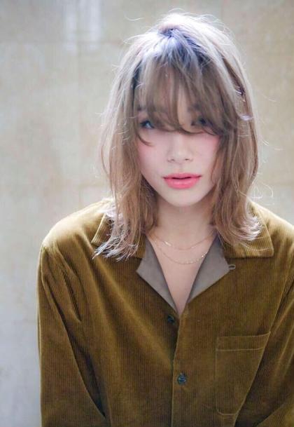 【メンテに最適❣️】前髪カット & グレージュカラー & 最新トリートメント&ダウンスタイリング