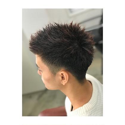 男らしい刈り上げベリーショート。 PRANA所属・宮本剛司のスタイル