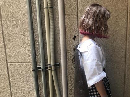 ハイトーンデザインカラー(インナー&裾*ブロー込み)