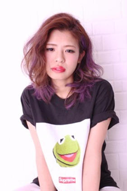 パープルグラデーションカラー!! Hair and Make kiyoshi所属・小原良之のスタイル