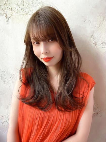 🧡初回オススメ🧡前髪カット+透明感カラー+トリートメント