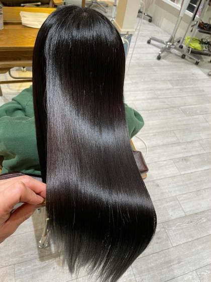 高濃度コラーゲン縮毛矯正+髪質改善トリートメント