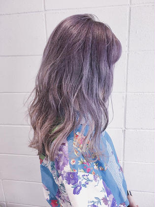 LONG×SILVER_PURPLE THE.KORD所属・.MAYAのスタイル
