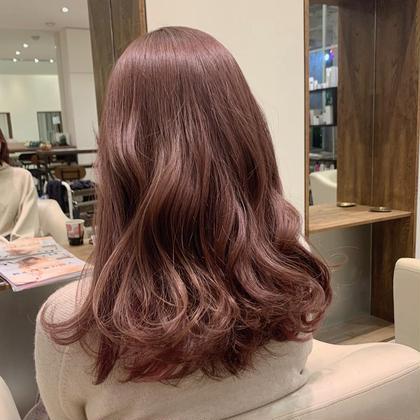 【土日祝日限定】カラー+アジュバンプラチナムトリートメント ♡🐰巻き髪スタイリング込み🐰♡