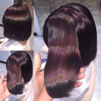 カラー セミロング ミディアム ツヤ髪❤︎ イルミナカラー❤︎