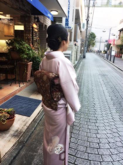 和装のアップスタイル League青葉台所属・加藤里菜のスタイル