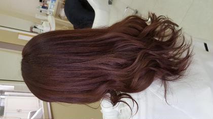 イルミナカラー☆トワイライト 写真では少しわかりずらいですがキレイなパープル系カラーです☆
