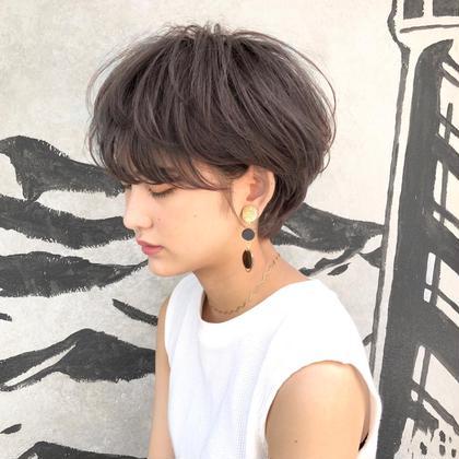 カラー ショート 横顔美人なショートヘア