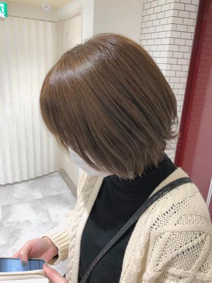【期間限定】ショートモデル 小顔カット+透明感カラー+ワンステップトリートメント