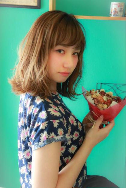 ふわふわミディアム^_^  ルーズに外ハネした感じが可愛いスタイル☆ Ripple所属・赤木健一のスタイル