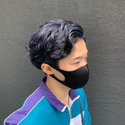 💙【💁🏻♂️男女共人気No.1💁🏻♀️】🦕ブリーチなし艶ブルーブラック+髪質改善3stepトリートメント