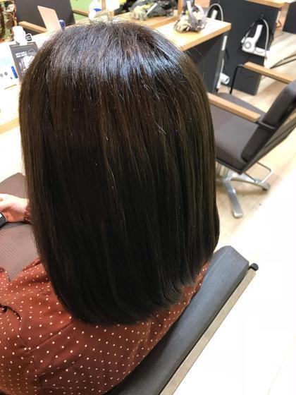 気になるオレンジ色味を和らげました! マット系カラー 會田結花のミディアムのヘアスタイル