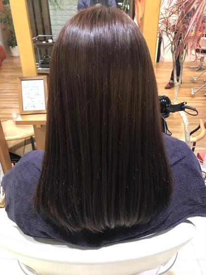 ロング 毛が細くて明るくなりやすい方も落ち着いた色味に!✨