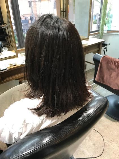 【ツヤ感マットベージュ】 トーンを暗くしても オシャレに外で見るとほどよい 透明感に ブリーチはなしです hair&spa an  contour所属・鈴木輝のスタイル