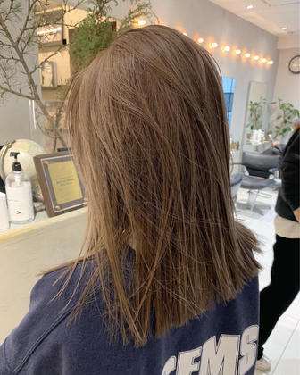 🕊 ブリーチケアメニュー🕊枝毛カット+ブリーチカラー+髪質改善トリートメント