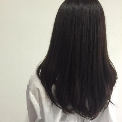 ネイビーアッシュ** 今年の秋 流行カラー( ^ω^ )♬ ダブルカラーでさらに綺麗な色味に♪ DIGNIF所属・藤垣万耶のスタイル