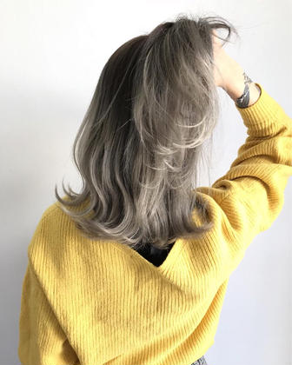 〔オススメ!!お得なメニュー!〕 カラー&前髪カット&トリートメント
