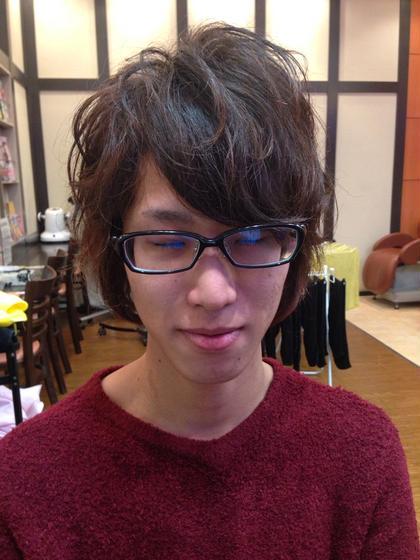 メンズパーマスタイル✂︎ 緩めのボディパーマで柔らかさと動きをプラスしました(^o^)✨ 直毛で動きがほしい方にオススメ✂︎ PLUS  ONE 山本店所属・中野恭平のスタイル
