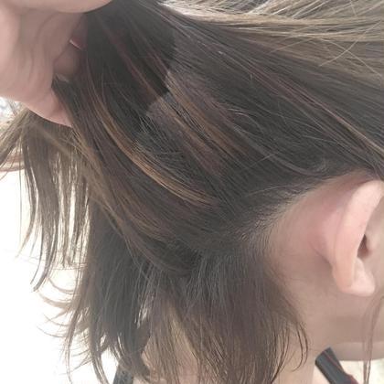 スペシャルハイライト♡結んだ時に見てるかわいいハイライトです♡透明感もバツグンです♡ D'na所属・小岩井美希のスタイル