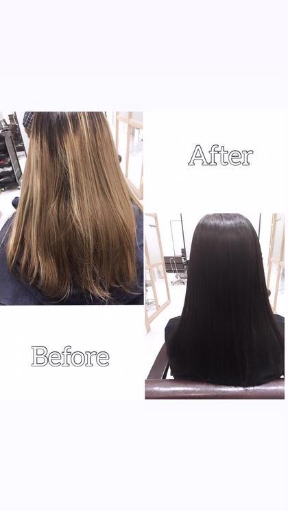 ❤️ブリーチハイライトで傷んだ髪を綺麗に❤️髪質改善カラー+表面補修トリートメント+メンテナンスカット