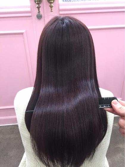 💝髪質改善シルクカラー💕  カラーしただけで天使の輪が3つできます💕 トリートメントではできない本当の髪質改善💓 minabyONE's所属・💓仕上げまで可愛く💓SHUNSUKEのスタイル