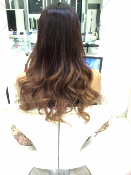 3Dグラデーション❤︎まとめ髪にすればお仕事で髪色厳しくても大丈夫 HAIR&MAKE EARTH 横浜所属・武井麻里のスタイル