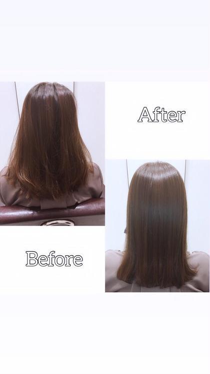 ✨人気No.1✨印象改善カット+リタッチカラー+髪質改善