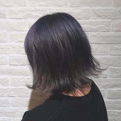 ブリーチしてからブルージュをON!透明感がすごくあるカラーです hair design Glanz所属・大垣めぐみのスタイル
