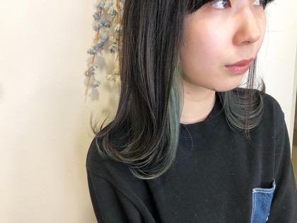 平日限定インナーカラー5500円