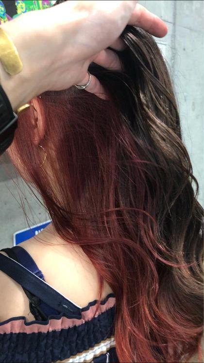 カラー ロング ピンク × インナーカラー⚡️⚡️