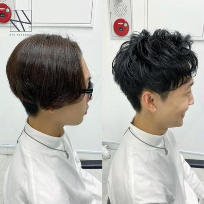 👔メンズ就活・インターン👔好印象カット+色持ち抜群の黒染めカラー+シークレットパーマ+髪質改善トリートメント🌿