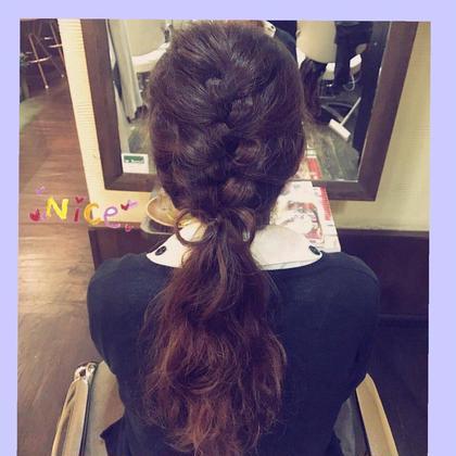 カットのみのお客様には 簡単可愛い ヘアアレンジで 仕上げていきます♪(*^^*)  BEL POSTO hair所属・吉岩佳亮のスタイル