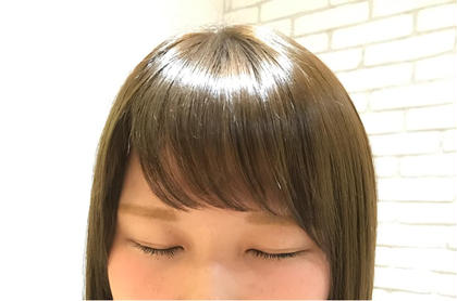 ミディアム 前髪パーマ