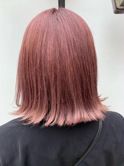 🐱ブリーチ毛の方🐱 根本のブリーチ+カラー+トリートメント