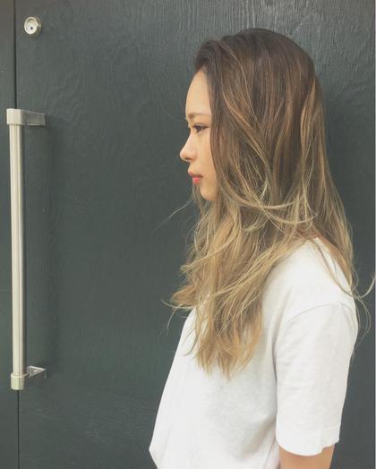 外国人風グラデーションカラー☆ BLEACH × 2 morio from london 大宮2号店所属・細矢茉里子のスタイル