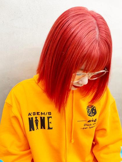 赤?みたいな赤オレンジ🍊 #オレンジ#カラー