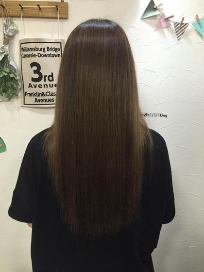 Aujuaトリートメントでブリーチオンカラーを繰り返した傷んだ髪の毛もツヤツヤになります✨ HAIR&MAKE  POSH所属・katoairiのスタイル