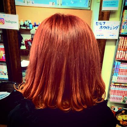 ダブルカラーで春色ピンクに♪ 仕上げはマカロン巻きで!! hair and make R【ヘアーアンドメイク アール】 所属・吉田 佳代のスタイル