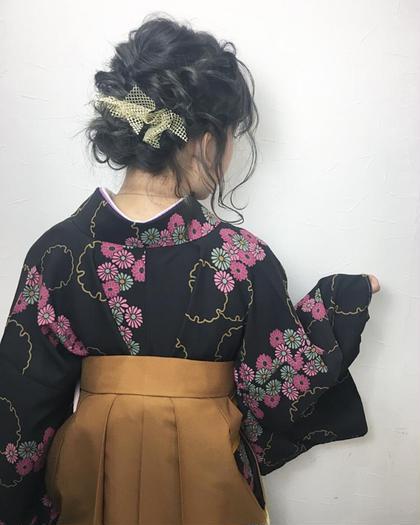 もうすぐ卒業シーズンですね❁.*・゚  ※ minimoでの袴の着付けとヘアセットのご予約は受け付けておりませんので、お手数ですが直接お電話ください。 三戸希世美のヘアアレンジ