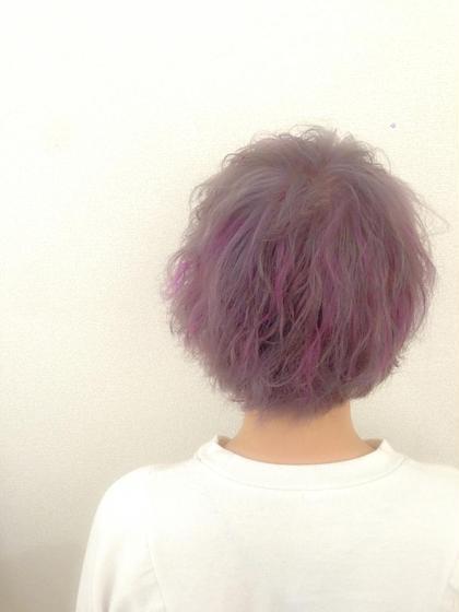 グレージュ✖️アメジストハイライト  ブリーチ(×2)→オンカラー→ハイライトで♪   髪質によってはブリーチ(×1)で出来る場合もありますので気軽にご相談下さい^_^ ricca所属・IIJIMAイイジマのスタイル