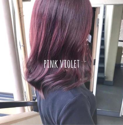 ブリーチなしで💕可愛いピンク系💕へ😍✨最新フュージョニストカラー+カット+FLOWDIAトリートメント