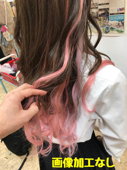 ロング ピンク、ピュアパープルのエクステです!! 50本です!!