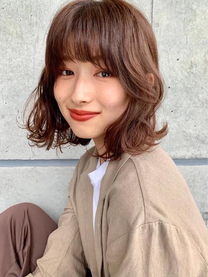 💖【人気No.3】💖似合わせ小顔前髪カット💖 &コテ巻き仕上げ💖