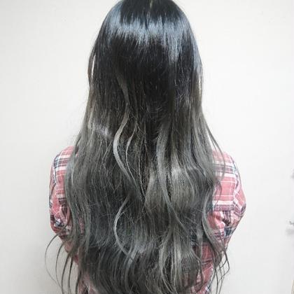 【 ☆グラデーションカラー☆】(ブリーチ+美髪オーガニックオイルカラー)
