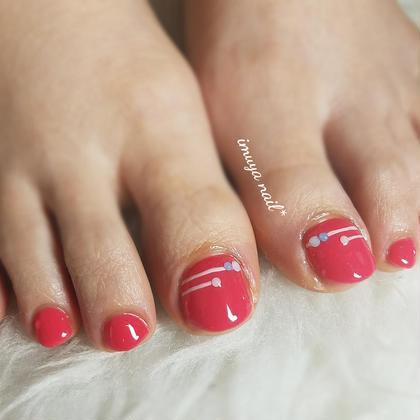 12月定額キャンペーンフットネイル A-type ¥5,500(オフ込) ネイル&脱毛サロン imuya nail所属・ネイル&脱毛サロンimuya nailのフォト