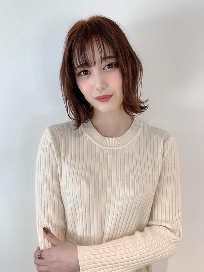 カラー&トリートメント&前髪カット 平日学生限定!