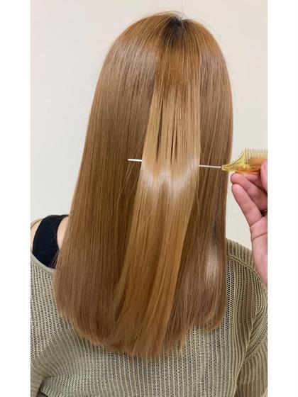 《ダメージ・くせ毛対策!! 話題の髪質改善!!》✨髪質改善ストレートトリートメント+毛量減 カット✨#アオハル