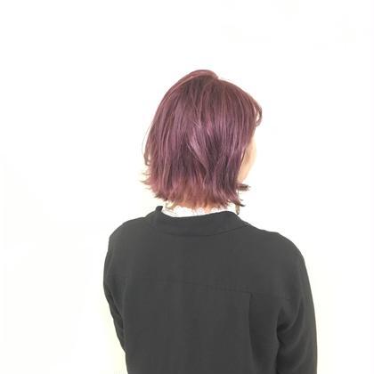 ピンクヴァイオレット ブリーチオンカラー hair&makeup miq所属・今村圭佑のスタイル