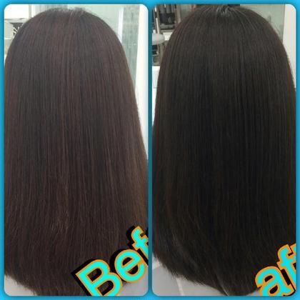 パサパサの髪から艶々アッシュグレー‼ Michio Nozawa Hair S所属・宮崎洋輔のスタイル